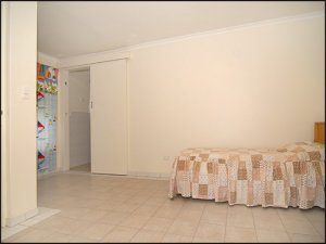 I can't even tell you what this room is. Laundry? Foyer? Whatever it is, this Nonna room puts a whole new meaning to the word 'minimalist.'